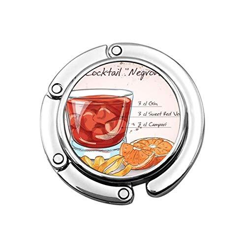 Niedlicher Faltbarer Geldbeutel-Aufhänger Geldbeutel-Haken Negroni alkoholischer Cocktail bestehend aus Gin Campari Red Vermouth