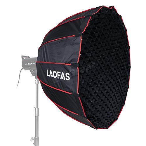 LAOFAS D90B 90CM 35.4インチソフトボックス ディープパラボラソフトボックス Bowensマウント付き 折りたた...