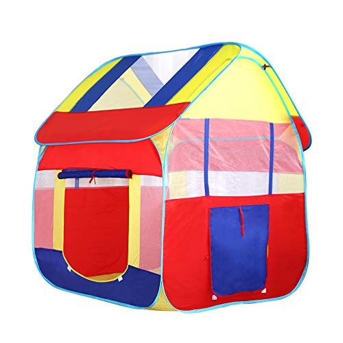 ACCDUER Kid Tent, Pop Up Children Play Tent, Happy Time Play House Kids Play Tent with for Indoor Outdoor Use Instant Set-UpThe Best Gift for Birthday,Blue