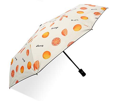 Parasol Parasol Totalmente automático Pegamento Negro Lluvia protección Solar de Dos usos Paraguas Ultravioleta ms. Paraguas de Estudiante