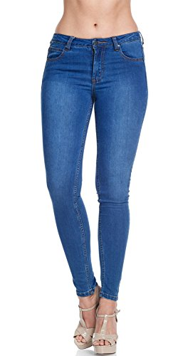 Women's Super Comfy Basic Low Rise Skinny Jeans with Comfort Stretch 5