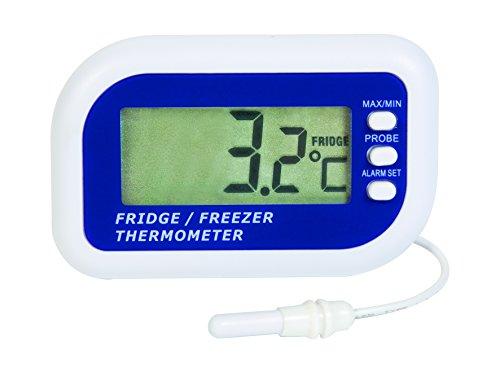 Termómetro digital para nevera o congelador con sensor interno y max/min
