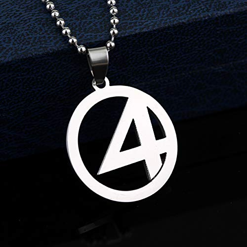 Men's necklace Fantastic Four Stainless Steel Silver Color...