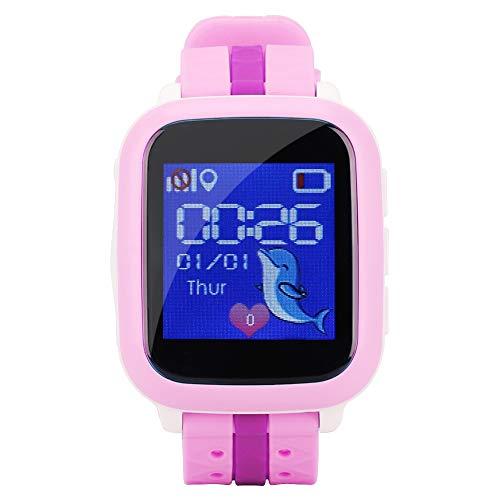 Ong Reloj para teléfono para niños, Reloj Inteligente multifunción para niños, Resistente al Agua y Resistente a la caída para niños(Pink)