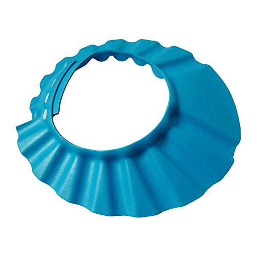 TIY Protector de champú para bebé, champú de seguridad, protección de baño de ducha, gorro para niños Bebes Gorro de ducha, sombrero para niños azul