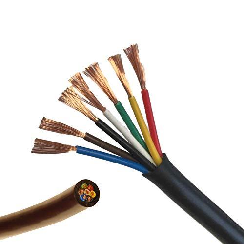 Cable de 7 núcleos, 12V, 24V, 11A, cable de pared fino, luces Led para remolque o caravana, (10 metros).