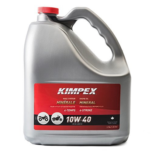 Kimpex Mineral Engine Oil Lubricant 10W40 4 Stroke 1 Gallon ATV, Motorcycle 260610