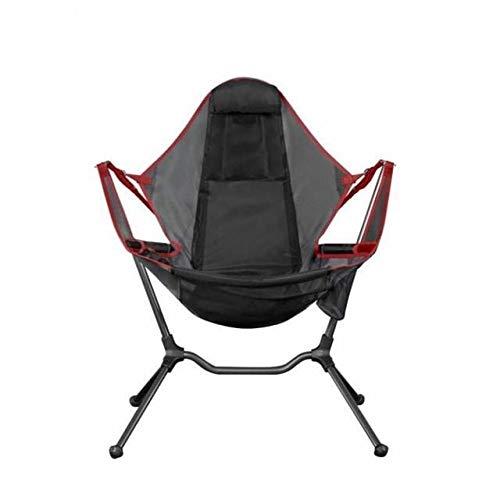 Hohe Qualität Faltbare Außenstuhlgarten Swing Chair Beach Mondstuhl mit Kissen Für Camping Angeln Ultraleicht Tragbare Stuhl für Camping Angeln Wandern im Freien (Color : Fishing chair Red)