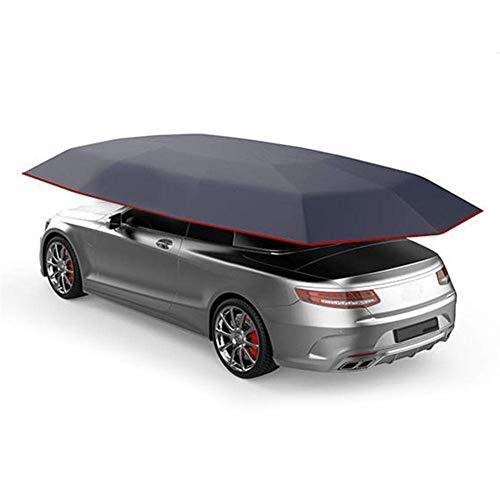 LLSS Car Tent Semi-Automatic Moving Car Umbrella Portable Car Protection Car Umbrella Roof Tent Cover Car Insulation Hood Sunshadetarpaulin Waterproof Dustproof UV Snow Protection