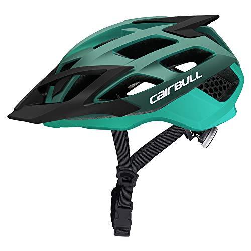 Cairbull MTB Erwachsene Männer Frauen Fahrradhelm Erwachsene Integral geformte Rennrad Mountainbike Fahrradhelm Mit Visier M L