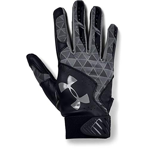 Under Armour Women's Radar Softball Batting Gloves, Black//Graphite, Small