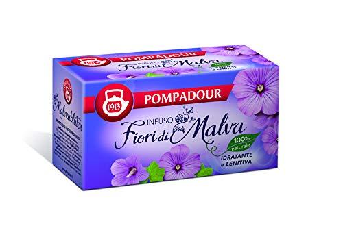Pompadour - Infuso Fiori di Malva, Idratante e Lenitiva - 20 filtri - [confezione da 3]