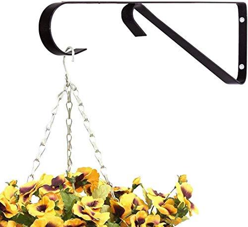"""Sgualie 12""""Black Hanging Basket Bracket Haken für Pflanzen, Vogelhäuschen, Topiary Balls, Laternen (1 Bracket), 2 Brackets"""