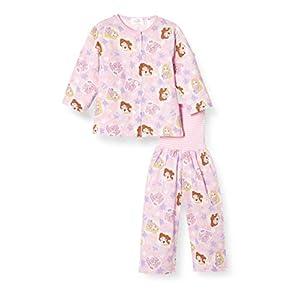 [ディズニー] パジャマセット ディズニー プリンセス 前開きパジャマ 腹巻付き 女の子 ピンク 90