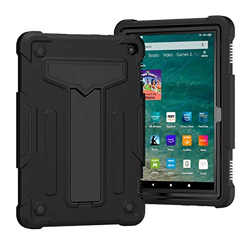 GHC PAD Cases & Covers For Amazon Kindle Fire HD 8 2020 Hd8, Heavy Duty 2 In1 Hybrid Cover Case Tablet Shell for Fire HD 8 Plus 2020 (Color : 1)