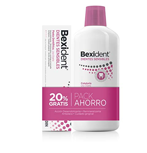 Isdin Bexident Dientes Sensibles Pack ahorro 20% GRATIS Colutorio 500ml+Pasta 75ml