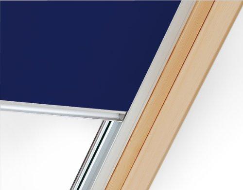 Verdunklungsrollo mit Hitzeschutz für Velux Dachfenster GGU, GPU, GLU, GGL, GPL, GLL (M06, MK06, 306*, 14*, Dunkelblau)