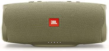 JBL Charge 4 Portable Bluetooth Speaker and Power Bank with Rechargeable Battery – Waterproof – Blue