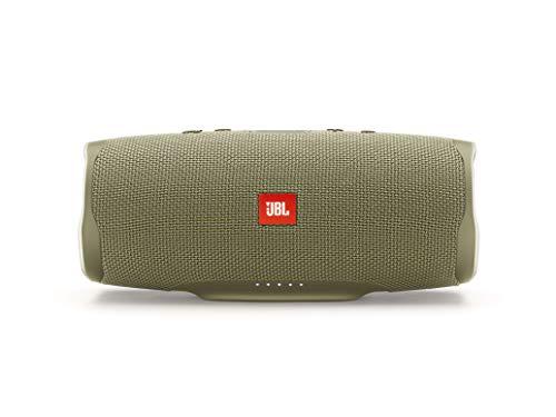 JBL Charge 4 Bluetooth-Lautsprecher in Sand – Wasserfeste, portable Boombox mit integrierter Powerbank – Mit nur einer Akku-Ladung bis zu 20 Stunden kabellos Musik streamen