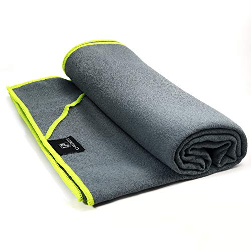 UPOWEX Yoga Towel - Super Soft, Sweat Absorbent, Non-Slip Bikram Hot Yoga Towels - Perfect Size for Mat - Ideal for Pilates and Yoga