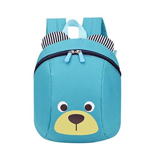 VOARGE Kleinkind-Rucksack, Anti Verlorene Tasche Niedliche Bär-Tier-Kind-Rucksack Cartoon Harness Rucksack Leine Sicherheit Anti-verloren Rucksack, für Baby Jungen Mädchen 1-3 Jahre (blau)