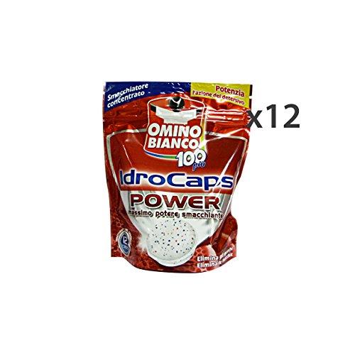 Omino Bianco Set 12 Idrocaps Smacchiatore Power X 12 Tabs Detergenti Casa