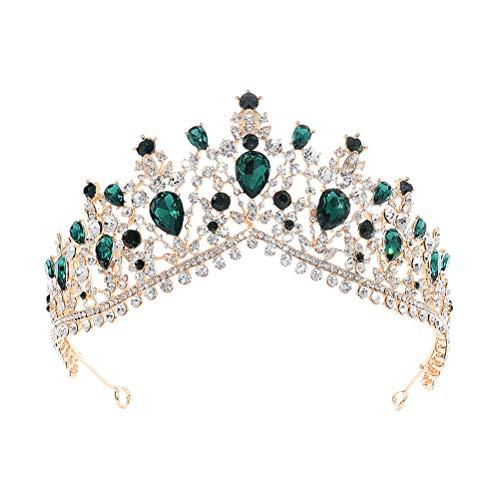 Mujeres corona hechos a mano de lujo princesa banda de pelo aro...