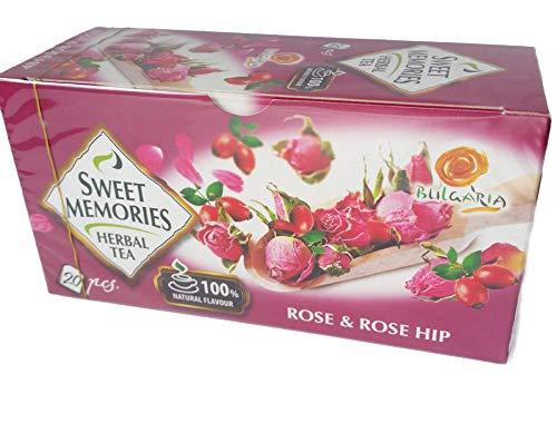 Té de hierbas búlgaras pétalos de rosa y rosa mosqueta, 100% natural