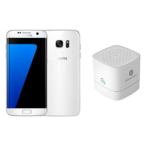 Pack Samsung Galaxy S7 Edge Smartphone débloqué 4G (Ecran: 5,5 pouces - 32 Go - Nano-SIM - Android) Blanc + Enceinte Bluetooth NFC