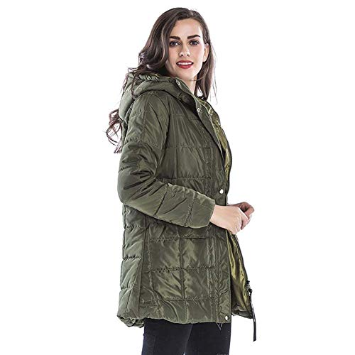 ELEAMO Mujer Chaqueta Zara Abrigo De Invierno Parka con Capucha Poliéster Liso...
