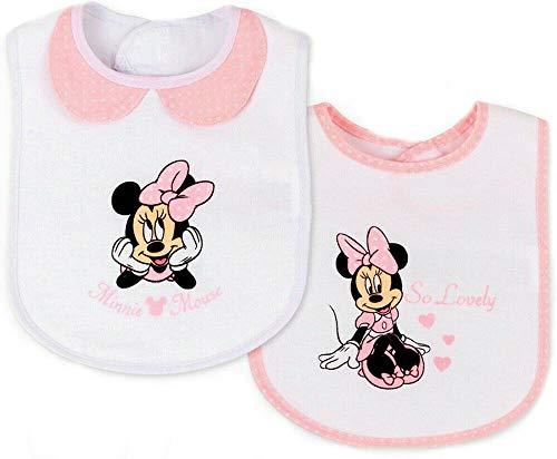 Baby Lätzchen 2 Stück SET Minnie Mouse Latz Sabbertuch mit Klett Disney 2er SET