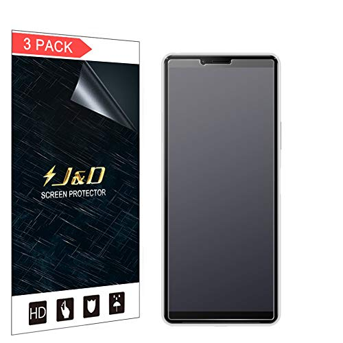 J&D Compatibile per Sony Xperia 10 II Protezione Schermo, 3-Pack [Anti-Riflesso] [Anti-Impronte] [Non Piena Copertura] Premium Matte Pellicola Protettiva per Sony Xperia 10 II