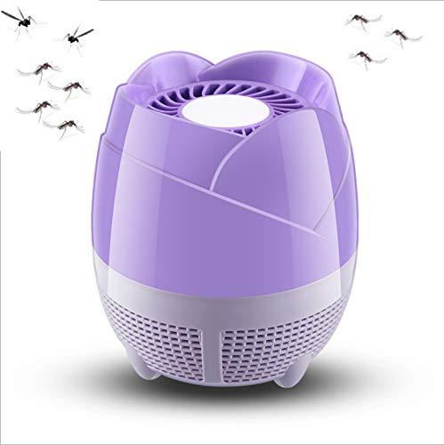 Amter Asesino De Mosquitos, Inhalador De Mosquitos para El Hogar, Aparato para Matar Mosquitos Silencioso, Trampa para Mosquitos Ultravioleta,Pink