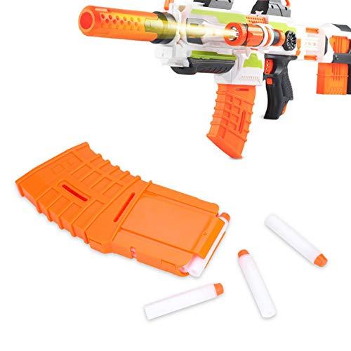 Soft Bullet Clip,10 Darts Quick Reload Clip Bullet Magazine Clip Holder Cartridge Replacement for Nerf Elite Series Toy Gun Orange (6.5cm Bullet)