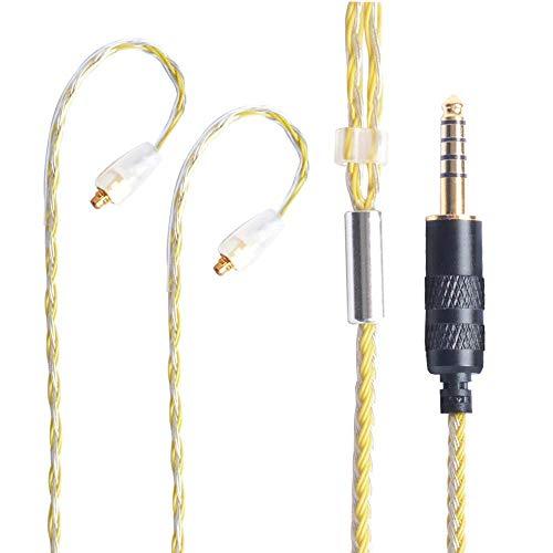 Hellodigi MMCX Kopfhörerkabel mit 2,5 mm geradem Stecker, Upgrade-Kabel, Audio-Ersatzkabel für Shure SE215/SE315/SE846/SE535/UE900
