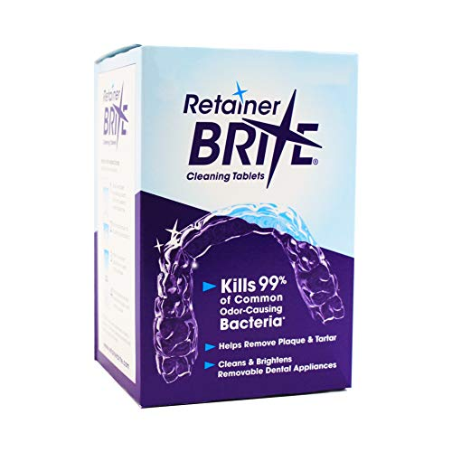 Retainer Brite Tablets for Cleaner Retainers and Dental Appliances - 96 Count