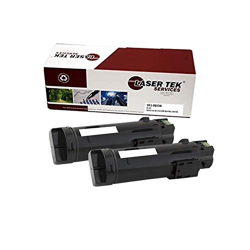 Laser Tek Services Compatible 825 593-BBOW Toner Cartridge Replacement for Dell H625cdw H825cdw, S2825cdn Printers (Black,2 Pack) - 3,000 Pages