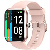 LETSCOM Smart Watch for Android Phones Compatible with iPhone, 1.69 Inch Touch Screen, Alexa Built-in, Heart Rate Monitor & Blood Oxygen Saturation, 5ATM Waterproof Fitness Tracker for Women Men