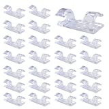 80 Pcs Cable Clips with Self-Adhesive Pads Desktop Wire Clear Up Clips Holder Wire Tie Cable Clamp Cord Management, Clear