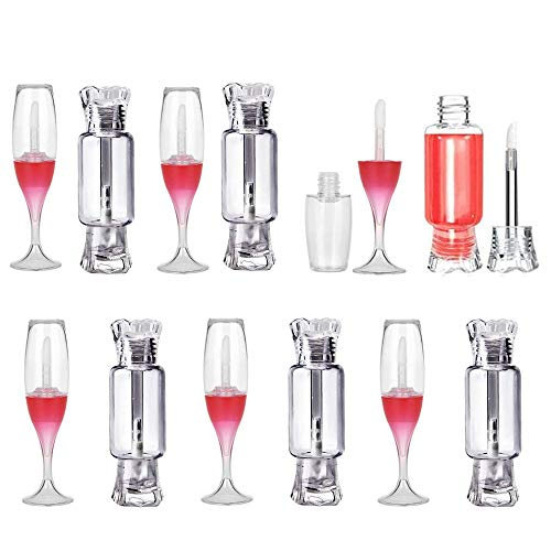 Lipgloss-Behälter, 24 Stücke Leere Lipgloss-Tube, Kunststoff Leer Lipgloss, Nachfüllbar Lipgloss-Behälter, Mini Lippenstift leere Tube, Tragbare Reisekosmetik, für Lip Glaze, Lippenstift, DIY