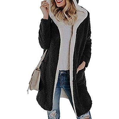 Sonnena Women Warm Long Sleeve Parka Faux Fur Coat Overcoat Fluffy