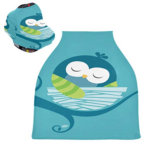 Shopping Cart Covers for Toddler Cute Good Night Owl Cute Animal Baby Carseat Nursing Cover High Chair Cover for Boys Shopping Cart Covers for Toddler Protects Babies and Breastfeeding Mothers Baby S