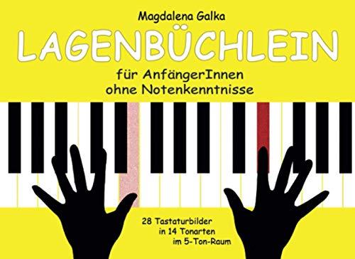 Lagenbüchlein - Für AnfängerInnen ohne Notenkenntnisse - 28 Tastaturbilder in 14 Tonarten im 5-Ton-Raum: / Ohne Noten / Ergänzungswerk zu ... zum Aufbau einer elementaren Klaviertechnik