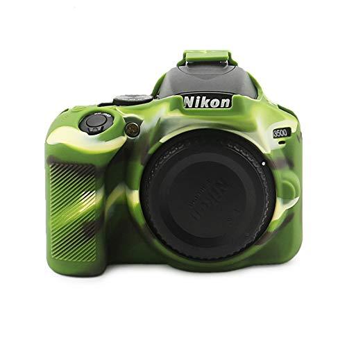 NIKON D3500 - Funda de silicona para Nikon D3500, funda protectora de silicona Nikon D3500, accesorios de cámara (camuflaje)