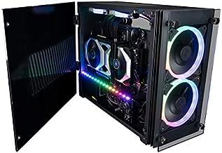 CUK Stratos Mini Gaming PC (Liquid Cooled Intel Core i9 K-Series, 64GB RAM, 1TB NVMe + 2TB HDD, NVIDIA GeForce RTX 3070 8GB, 650W PSU, AC WiFi, Windows 10 Home) Tiny RGB Desktop Gamer Computer