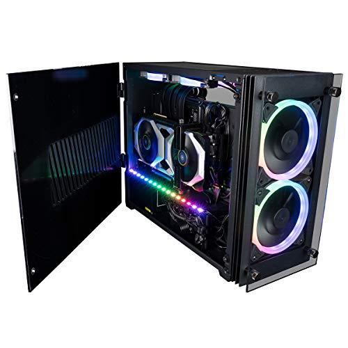 CUK Stratos Mini Gaming PC (Liquid Cooled Intel Core i9, 64GB RAM, 1TB NVMe + 2TB HDD, NVIDIA GeForce RTX 3070 8GB, 650W PSU, AC WiFi, Windows 10 Home) Tiny RGB Desktop Gamer Computer