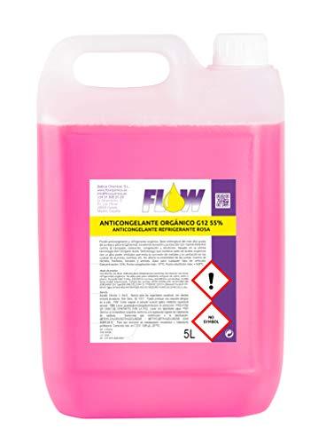 FLOW QUÍMICA ANTICONGELANTE REFRIGERANTE G12 55% Rosa 5 L