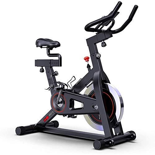 WJFXJQ Bicicleta de Ejercicios, tracción en el cinturón en Bicicleta de Ciclismo Interior, cojín cómodo de Asiento, versión Mejorada (Negro)