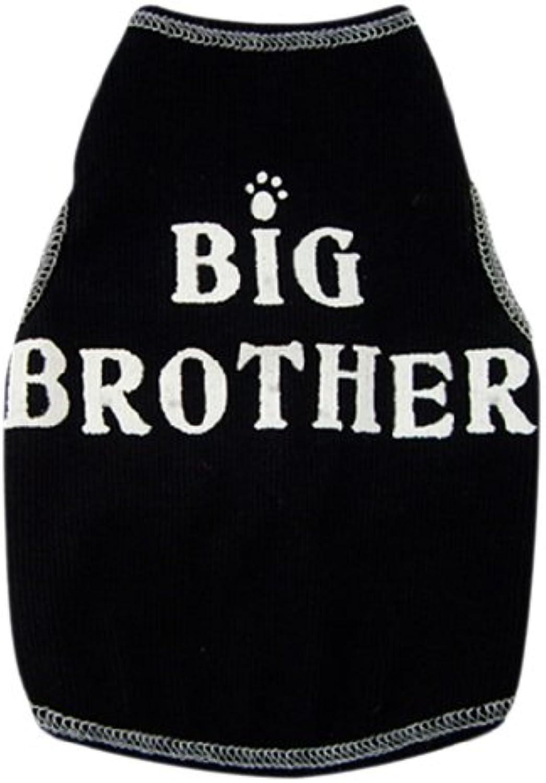 I See Spot's Dog Pet Cotton TShirt Tank, Big Bredher, XXSmall, Black