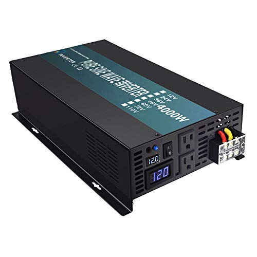 Reliable 4000W Solar Power Inverter 12VDC To 120V AC Off Grid Pure Sine Wave Inverter LED Display